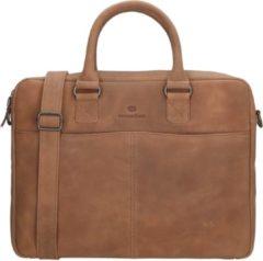 Bruine Micmacbags Mälmo laptoptas 15 inch brown