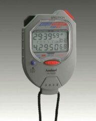 Grijze Hanhart stopwatch digitaal model Spectron 251.1951-00 1/100 sec. / 1/100 min.