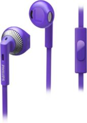 Paarse Philips HS Ear buds 15mm speakers with bass boos