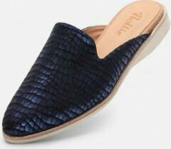 Marineblauwe Rollie | Dames | Muiltjes | Madison Mule Navy Metallic Croc | maat 39