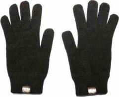 Zwarte Weft Possum/Merino Handschoenen - Lange Vingers - Black Charcoal
