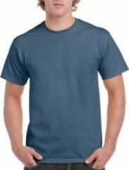 Gildan Indigoblauw katoenen shirt voor volwassenen 2XL (44/56)