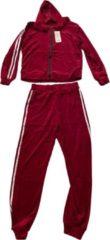 AWR Premium Dames Trainingspak / Tracksuit / Joggingspak   Sport kleding   Zwart-Rood - M
