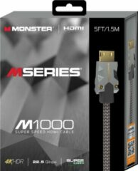 Zilveren Monster M series M1 UHD High Speed HDMI Kabel - Ethernet - 22.5Gbps - 1,5m