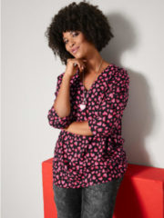 Blouse Angel of Style Zwart::Rood::Pink