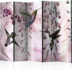 Kamerscherm - Scheidingswand - Vouwscherm - Flying Hummingbirds (Pink) II [Room Dividers] 225x172 - Artgeist Vouwscherm