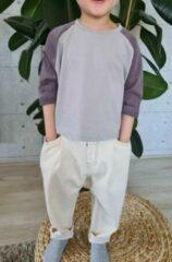 Creme witte Merkloos / Sans marque Hii You Kinderbroek - Baggy jeans Unisex - Maat 104 - Overzised broek - Wijde jeans - unisex - Meisjebroek - Jongensbroek -Baggy broek Crème