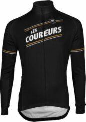 Bruine Vermarc Sports Fietsshirt Vermarc Les Coureurs Spl Trui Lm Lr - Maat: M, Kleur: Zwart