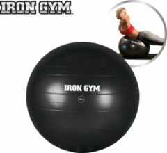 Zwarte Iron Gym exercise ball – fitnessbal voor stabiliteitstraining – 75 cm – incl.pomp