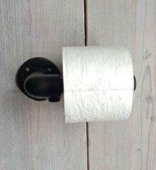 Absteigerhout Zwart Steigerbuis Toiletrol houder | Wc rolhouder | Toilet rol Houder | Toilet-rol | Wc-rol | Industrieel | Loft | Robuust
