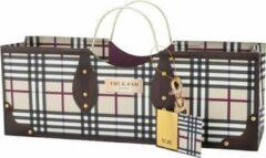 Paarse Trendy tas True Cadeauverpakking wijnfles purple square