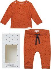 Oranje Noppies Cadeauset (2delig) Biologische Kleding Ginger Stip - Maat 44