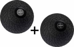 Zwarte Fitness Avento Slam Bal met Profiel 8 & 10 Kilo - Bundelpakket