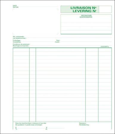 """Afbeelding van Zelfkopiërend doorschrijfboek Exacompta """"leveringsbon"""" 210 x 180 mm 50-2"""