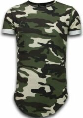 Tony Backer Known Camouflage T-shirt - Long Fit Shirt Army - Groen Known Camouflage T-shirt - Long Fit Shirt Army - Groen Heren T-shirt Maat S