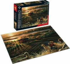 FDBW Puzzel - 1000 stukjes - Boerderij | Kunst puzzel voor volwassene | Kunst Puzzel Collectie | Puzzel Kunstwerken - Boerderij | Puzzel 1000 – Boerderij Zonsondergang