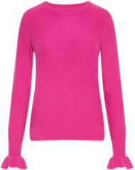 VERO MODA Ruffled Knitted Pullover Women Pink