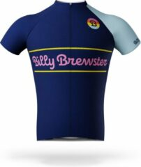 Blauwe Billy Brewster - Club Kit wielershirt - Fietsshirt Heren - maat M