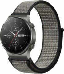 IMoshion Nylon Smartwatch Bandje voor de Huawei Watch GT 2,Huawei Watch GT 2 Pro,Huawei Watch GT 2e Sport 46 mm - Grijs