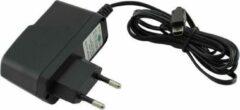 VHBW USB Mini B thuislader met vaste kabel - 2A / zwart - 1,2 meter