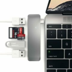Grijze Satechi Type-C USB Combo Hub - Space Grey