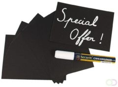 Nato Advanced Research Workshop Securit Chalk board tags A6 (washable) - set of 20 tags + 4 spikes + 2 stands + chalk marker