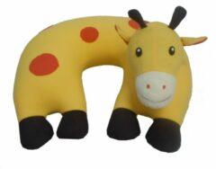 Gele Cuddlebug U-shape kussen | Giraffe | Knuffel | Kinderen