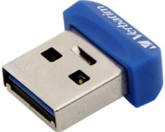 Blauwe Verbatim Store 'n' Stay Nano 64GB USB 3.0 (3.1 Gen 1) USB-Type-A-aansluiting Blauw USB flash drive