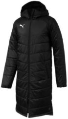 Stadionjacke Liga Sideline Bench Jacket Long 655299-03 mit langem Schnitt Puma Puma Black-Puma White