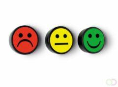 SMIT VISUAL Smiley geel, set van 5 stuks.