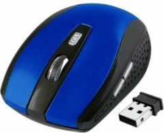 High Five Sporty style draadloze muis 2.4G computer muis met Nano Receiver Portable blauw
