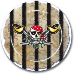 Folat 8 Stuks Piraten Versiering Bordjes Voor Een Piraten Kinderfeestje - Thema Feest Bordjes