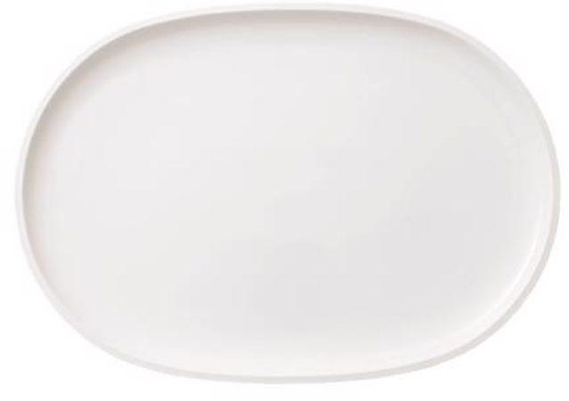 Afbeelding van Witte Villeroy & Boch Villeroy en Boch Serveerschaal Artesano Original Visbord ovaal