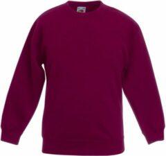 Bordeauxrode Fruit Of The Loom Kinder Unisex Premium 70/30 Sweatshirt (Bordeaux)