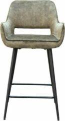 Vtw Living Luxe industriële barkstoel - Velvet - Barkruk - Industrieel - Barstoel - Stoel - Kruk - Sfeer - Fluweel - Trendy - Bar Chair - Chair - Groen - 95 cm hoog