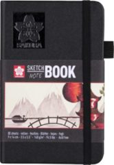 Creme witte Sakura schets/notitieboek - 9x14 cm - crème wit