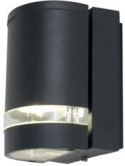LUTEC Focus buitenverlichting GU10 wandlamp 1 lichts donkergrijs IP44