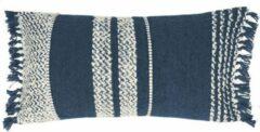 Blauwe Malagoon - Berber dark blue cushion