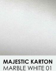 Witte Karton met glinster notrakkarton Majestic marble white 01 A4 250 gr.