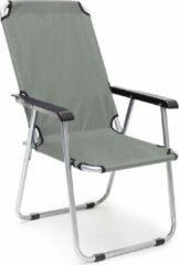Antraciet-grijze Relaxdays campingstoel inklapbaar - tuinstoel verstelbaar - strandstoel - klapstoel grijs