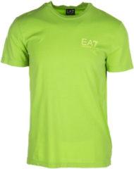Verde Emporio Armani EA7 T-shirt maglia maniche corte girocollo uomo
