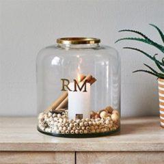 Transparante Riviera Maison windlicht Love RM Hurricane M