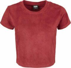 Bordeauxrode Urban classics Cropped - Korte Urban - Streetwear - Modern - Casual - Modern - Lente - Zomer Dames T-shirt Maat L