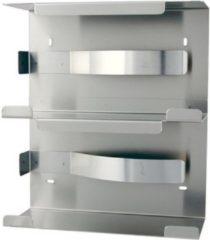 Roestvrijstalen Handschoendispenser duo aluminium van MediQo-line