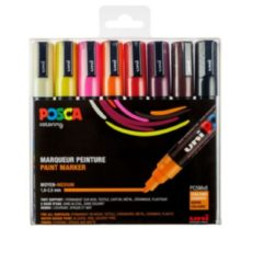 Posca paintmarker PC-5M, set van 8 markers in geassorteerde warme kleuren