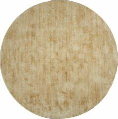 Veercarpets Vloerkleed Viscose - Rond ø150 cm - Oker - Geel