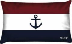 Donkerblauwe Velits outdoor Buitenkussen vlag Nederland