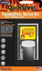Quiksteel 18003+, Xtreme Heat, Reparatie-pasta voor extreem hete materialen tot wel 1.300-Gr. Celsius! & JB/QUIK/DG Ontvetter, de beste combinatie voor Reparaties aan Ovens, Verwarmingsketels, Kachels, Turbo's etc.