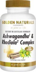 Golden Naturals Ashwagandha & Rhodiola Complex (60 vegetarische capsules)