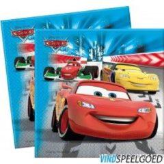 Blauwe Disney Servetten cars 33 x 33 cm 20 stuks